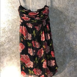 Strapless floral back zip from The Limited size 8